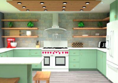 Lucite Reminiscent Kitchen